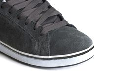 Grey shoe Royalty Free Stock Photos
