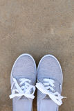 Grey shoes Stock Photography