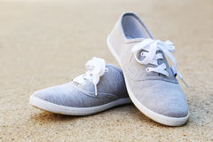 Grey shoes Royalty Free Stock Photos