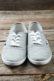 Grey shoes Royalty Free Stock Photography