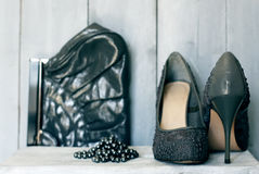 Grey shoes Royalty Free Stock Photo