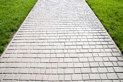 Grey sidewalk Royalty Free Stock Photos