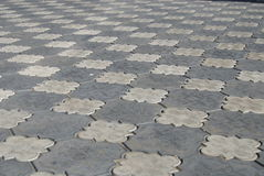 Grey sidewalk tile Stock Photo