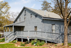 Grey Siding House with Wheelchair Ramp Royalty Free Stock Photography