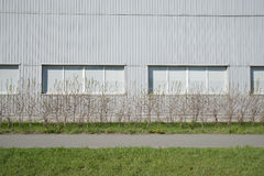 Grey siding modern wall Royalty Free Stock Photography