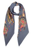 Grey silk scarf with colors Stock Photo