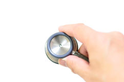 Grey and silver doctors Stethoscope. Royalty Free Stock Photo