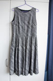 Grey silver formal female dress Stock Image