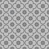 Grey on silver club and circle seamless repeat pattern background stock illustration