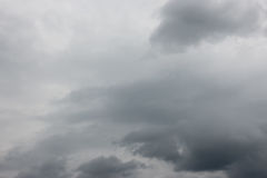 Grey sky before the storm. Nature background Stock Images