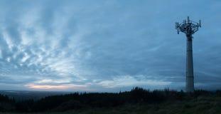 Grey Sky Tower Arkivfoto