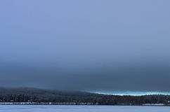 A grey sky in winter Stock Photo