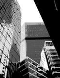 Grey skyscrapers. Vector art Royalty Free Stock Photography