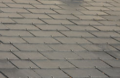 Grey slate roof Royalty Free Stock Images