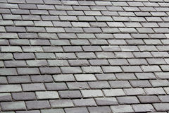 Grey Slate Tile Roof Royalty Free Stock Photography
