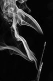 Grey smoke from aromas incense. Abstract background Royalty Free Stock Photos