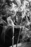 Grey smoke from aromas incense. Abstract background Stock Photo