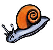 Grey snail Royalty Free Stock Photography