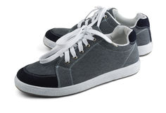 Grey sneakers Royalty Free Stock Images