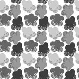 Grey Snow Clouds Seamless Pattern Stock Photos