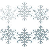 Grey snowflakes. Stock Image