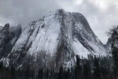Grey Snowy Mountain Top Stock Photography