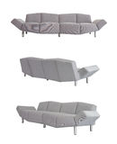 Grey Sofa in alle hoeken royalty-vrije stock afbeelding