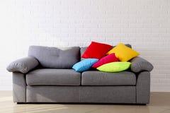 Grey sofa Royalty Free Stock Photo