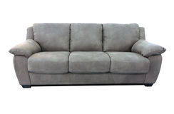 Grey sofa furniture isolated on white Stock Photo