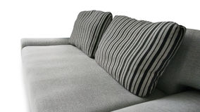 Grey sofa and pillow as furniture background. Royalty Free Stock Photography
