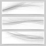 Grey soft line web header collection Royalty Free Stock Photos