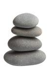 Grey spa geïsoleerdee stenen Stock Fotografie