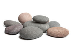 Grey spa stones isolated Stock Images