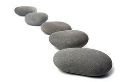 Grey spa stones isolated Stock Photo