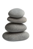 Grey spa stones isolated Stock Photography