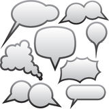 Grey speech bubbles Royalty Free Stock Image