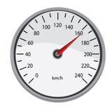 Grey speedometer Stock Image