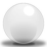 Grey Sphere - Light. A Light Grey Colored Sphere, contoured to make it look as if it were reflecting light, and Placed upon a shadow to show where it sits on the vector illustration