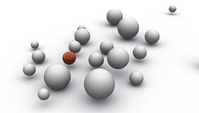 Grey Spheres Stock Photos