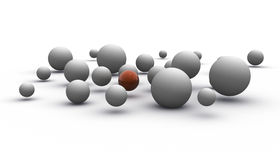 Grey Spheres Stock Photography