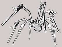 Grey spider handicaped Royalty Free Stock Images