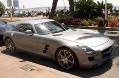 Grey Sport car Royalty Free Stock Photography