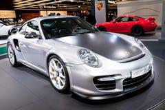 Grey sport car Porsche  GT 2 RS Stock Photos