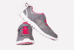 Grey Sport running shoes Stock Image