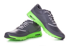 Grey sport shoes Royalty Free Stock Image