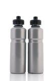 Grey sport water bottles Stock Photo