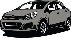 Grey Sportscar Vehicle Silhouette Stock Foto's