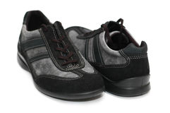 Grey sporty shoes isolated Royalty Free Stock Photo
