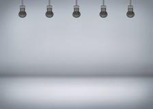 Grey spotlight background Stock Photos