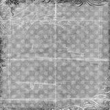 Grey Spotted Background with Lace trim Stock Image